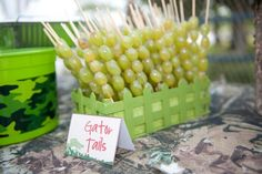 Hostess with the Mostess® - Party in the Swamp Green grapes on skewers