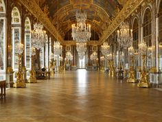 Hall of Mirrors, #Versailles, #France #travel