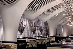 STK Midtown restaurant by ICRAVE, New York hotels and restaurants  #curved