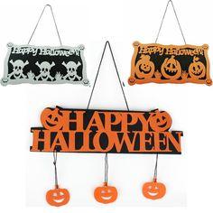Halloween Pumpkin Pendant Door Decor Hanging Party Decoration Halloween Banner…