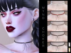 Choker in 10 colors. Found in TSR Category 'Sims 4 Female Necklaces'