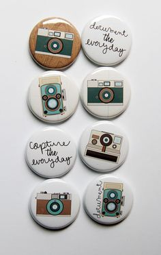 More Cameras Flair by aflairforbuttons on Etsy, $6.00 #aflairforbuttons #flair