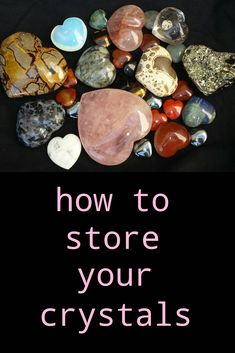 If you want to take good care of your crystals, it's important to store them safely to avoid any damage that may occur. Safe handling of your crystals allows you to enjoy them for many years Crystals Minerals, Rocks And Minerals, Crystals And Gemstones, Stones And Crystals, Gem Stones, Crystal Healing Stones, Crystal Magic, Crystal Grid, Quartz Crystal