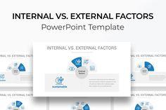 Internal vs. External Factors PowerPoint Template Dashboards, Color Themes, Factors, Diagram, Templates, Stencils, Vorlage, Models