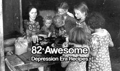 82 Awesome Depression Era Recipes  During the Great Depression, unemployment was high, jobs were hard to come by and lots of folks had trouble putting food on the table because their meager budgets were stretched to the limit.Sounds familiar doesn't it? With the U.S still recovering from one of …