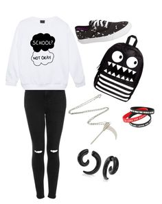"""""""Not ready for school"""" by its-miss-meghan ❤ liked on Polyvore"""