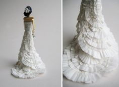 if my mother had her way with my dress.... but a cake topper might make her just as happy...