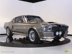 1967 Mustang Shelby G.T.500 Eleanor Fastback - Grey Metallic / Black photo #1