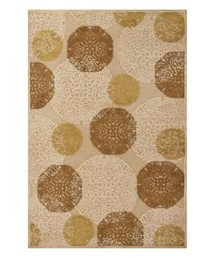Look at this #zulilyfind! Ivory Medallion Soho  Rug #zulilyfinds