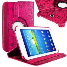"""PU Leather Case Cover for Samsung Galaxy Tab 3 7 0"""" 7"""" Tablet P3200 P3210 Lot 