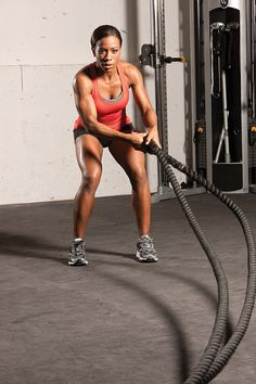 Amp up your workout and optimize your fat-burning potential with battle ropes.