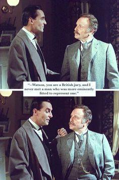 Sherlock compliments Watson Sherlock Bbc, Jeremy Brett Sherlock Holmes, Martin Freeman, Benedict Cumberbatch, Sherlock Holmes Short Stories, The Science Of Deduction, David Burke, Fantasy Tv, Doctor Johns