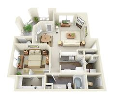 Lambertson Farms Apartment Homes Sims House Plans, House Layout Plans, Small House Plans, House Layouts, House Floor Plans, Pool House Designs, Sims 4 House Design, Studio Apartment Floor Plans, Bedroom Floor Plans