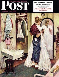 "Norman Rockwell, ""Prom Dress"" (1949)"