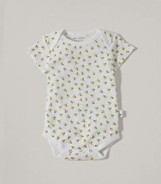 Bee Essentials Honeybee Print Short Sleeve Bodysuit - Burts Bees Baby