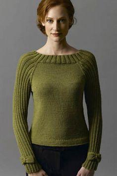 Ravelry: Bow-Tie Pullover pattern by Irina Poludnenko