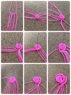 images about Micro Macramé Tutoriel Technique on . Macrame Earrings, Macrame Jewelry, Macrame Bracelets, Micro Macramé, Art Macramé, String Crafts, Macrame Design, Macrame Projects, Macrame Knots