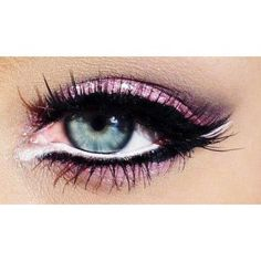 White and black eyeliner
