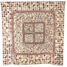 Old Quilts, Antique Quilts, Scrappy Quilts, Vintage Quilts, Square Patterns, Quilt Patterns, Postage Stamp Quilt, Traditional Quilts, Antique Interior