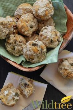 Wildtree's Bacon Jalapeno Cheddar Beer Bread Muffins Recipe - A delicious bread made from Wildtree's So Quick & Easy Beer Bread.  Purchase yours and get the recipe at mywildtree.com/sbagwell