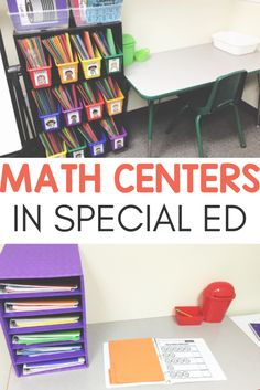 Need ideas for how to successfully run math rotations in your special education classroom? Check out how I used these teacher run and independent skill centers to help my kids. I did this set-up with my kindergarten, and grade sped students a Teaching Special Education, Teaching Math, Art Education, Teaching Ideas, Teaching Reading, Education Quotes, Higher Education, Physical Education, Math Rotations