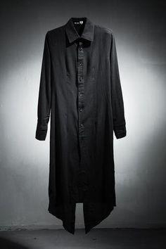 Long slim fit wrinkle shirts