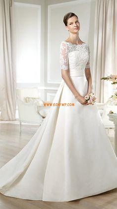 Frühling 2014 Reißverschluss Natürlich Brautkleider 2014