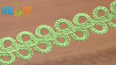Crochet Ribbon Big Chain Spaces Tutorial 42 plus see her other tutorials Crochet Rings, Crochet Cord, Crochet Bracelet, Crochet Hook Sizes, Double Crochet, Crochet Decrease, Single Crochet, Crochet Cluster Stitch, Puff Stitch Crochet