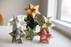 Items similar to stellated isocahedron paper star on Etsy Platonic Solid, Paper Stars, Iris, Christmas Diy, Origami, Paper Crafts, Unique Jewelry, Creative Ideas, Handmade Gifts