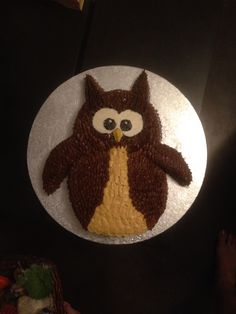 Owl cake for Abigale Gingerbread Cookies, Owl, Cakes, Desserts, Gingerbread Cupcakes, Tailgate Desserts, Ginger Cookies, Deserts, Owls