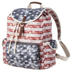 Mossimo Supply Co. Americana Backpack w/ a secret pocket!