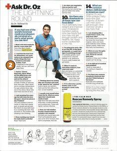 Dr. Oz on Vemma, taken from Esquire magazine.