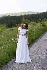 Šaty - Ivory šaty s kvetinovou výšivkou - 9557350_
