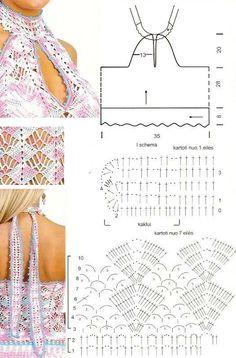Top Atado al Cuello Patron - Patrones Crochet
