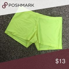Bright neon yellow booty shorts Comfy stretchy booty shorts. Great condition Shorts