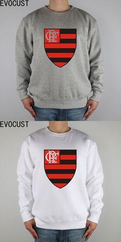 escudo CLUBE DE REGATAS DO FLAMENGO men Sweatshirts Thick Combed Cotton