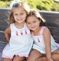 Smocked and Appliqued Childrens Clothing for Girls, Boys, and Babies.