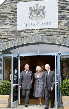 Prince Charles and Camilla Duchess of Cornwall popped into the Rhug Estate Farm Shop where they met staff and guests