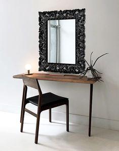 Luxusné zrkadlo v čiernom ráme GLAMOUR BLACK. Black Mirror, Baroque, Oversized Mirror, Glamour, Mirrors, Furniture, Design, Home Decor, Black Vanity