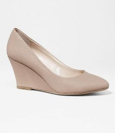Pointed Toe Wedge in Panama Beige at Express, $41.93