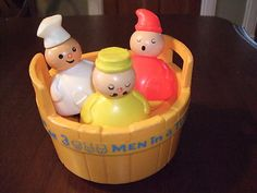 1970's Fisher Price- 3 Men in a Tub