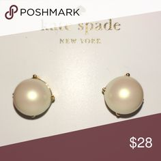 """TAKE 25-40% OFF 🎄Kate Spade ♠️ """"Pearl"""" Earrings ✨ Kate Spade ♠️ Cream """"Pearl"""" Earrings NWTs • Posts are made of Rhodium & are Nickel Free for sensitive ears • Includes dust bags • smoke/pet free home • 20% donated to the American Cancer Society 🎄 HOLIDAY SALE: 1️⃣Buy 1 @ 25% Off 2️⃣Buy 2 @ 30% Off 3️⃣Buy 3 @ 35% Off 4️⃣Buy 4 or More & Get 40% off Bundle... BUY MORE SAVE MORE 🎁 Thanks & Happy Poshing! ✨ kate spade Jewelry Earrings"""