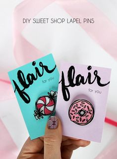 make your own sweet lapels pins using shrinky dinks!