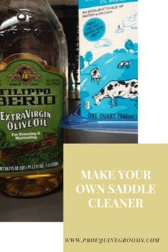 Pro Equine Grooms - How to Make Your Own Saddle Cleaner