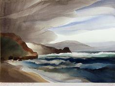 Wallace Galleries - Toni Onley Landscape Paintings, Landscapes, Watercolor Sketchbook, Canadian Artists, Art Furniture, Art Design, Watercolours, Artist Art, Sketchbooks