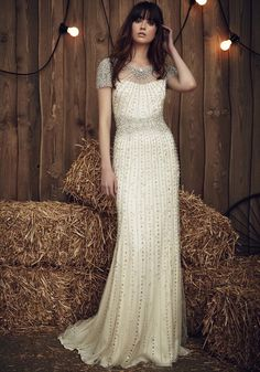 Jenny Packham | Embellished Cap Sleeves Wedding Dress | Designer Bridal Room