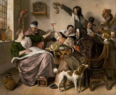 Jan Steen, 'As the Old Sing, So Pipe the Young', c. 1668 - 1670