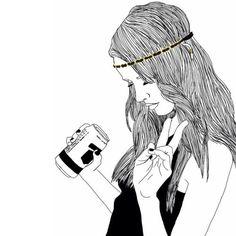 dessins de fille tumblr  | noir, dessin, fille, grunge, Tumblr - image #3169315 par LADY.D sur ...