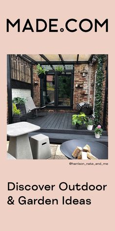 As the weather warms up, make your outdoor space just as hot. Opt for natural rattan, colourful plant pots and planters and modern lounge sets. Don& forget an industrial style firepit for when the sun goes down Backyard Patio Designs, Backyard Landscaping, Back Gardens, Outdoor Gardens, Garden Sitting Areas, Mediterranean Garden Design, Back Garden Design, Beautiful Home Gardens, Balkon Design