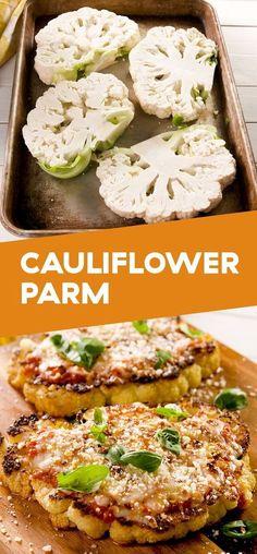 Cauliflower Parmesan #vegetarian